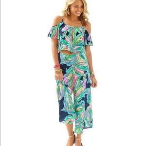 Lilly Pulitzer Two-piece Posy Set, NWT Bright Navy
